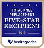 Healthgrades 5-Star Recipient for Total Knee Replacement