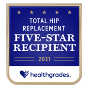 Healthgrades 5-Star Total Hip Replacement Award