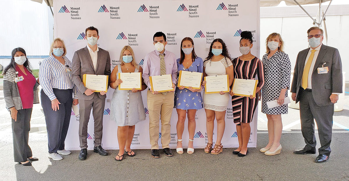 2018 Recipients of South Nassau's Dorothy M. Sharer Health Care Scholarship