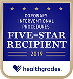 Five-Star Recipient for Coronary Interventional Procedures